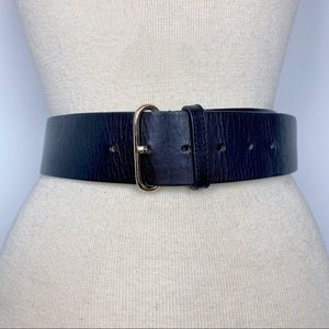 Ann Taylor black leather minimalist style belt S